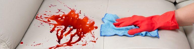 پاک کردن لکه خون از روی مبلمان، روش و متد خاص خود را دارد